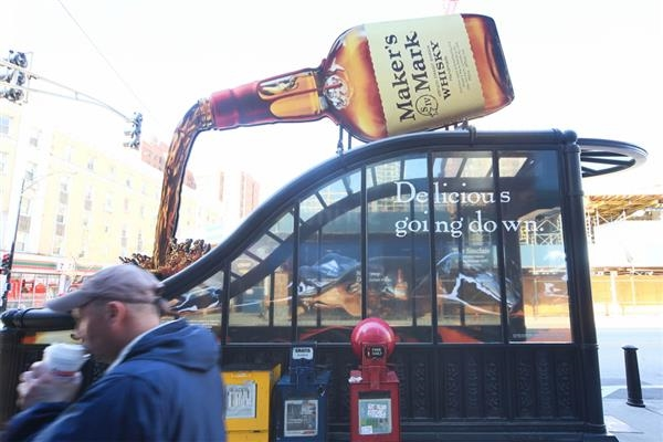 Makers Mark Outdoor ad